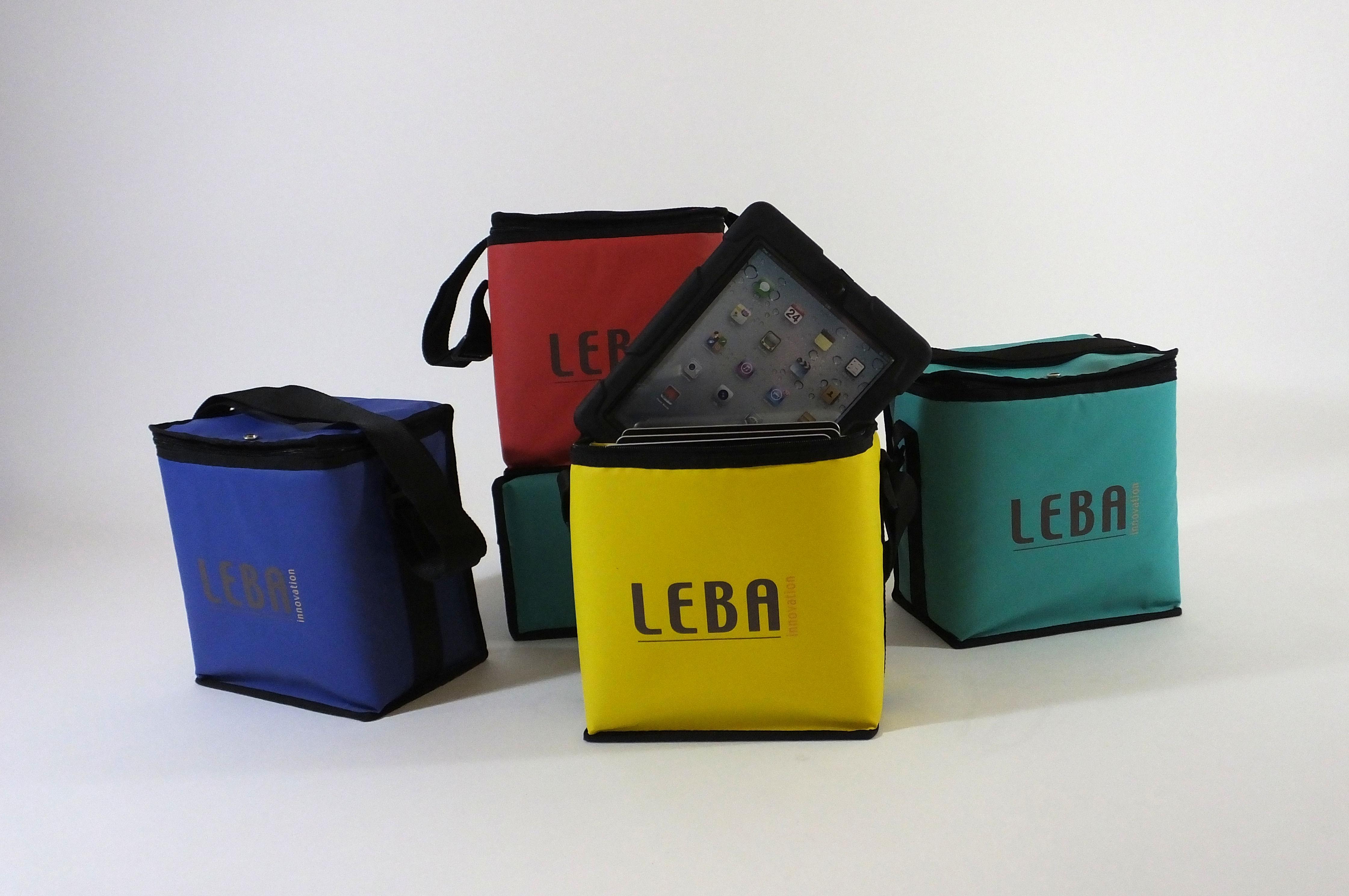 Leba NoteBag Tasche für 5 Tablets, blau