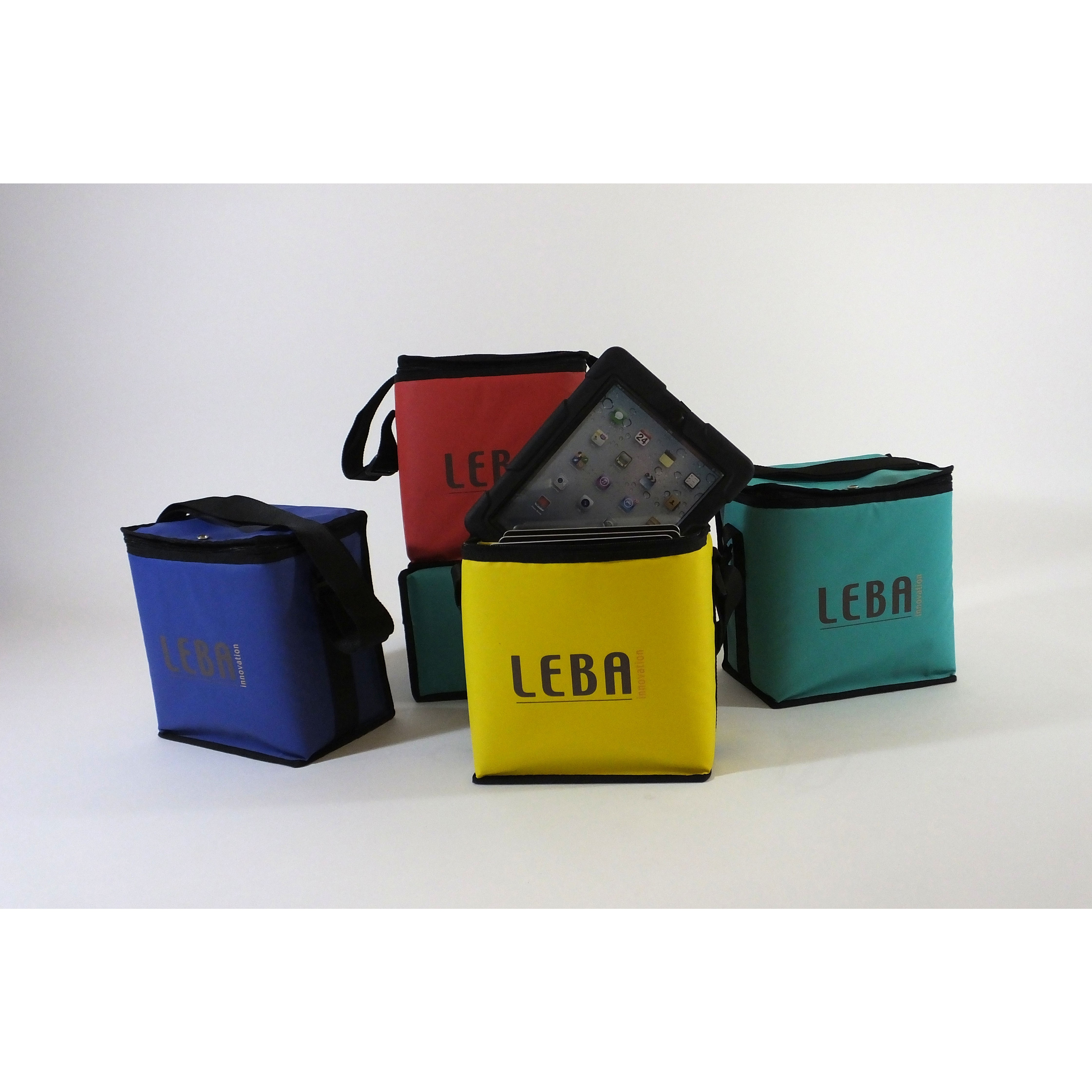 Leba NoteBag Charge Tasche für 5 Tablets, rot