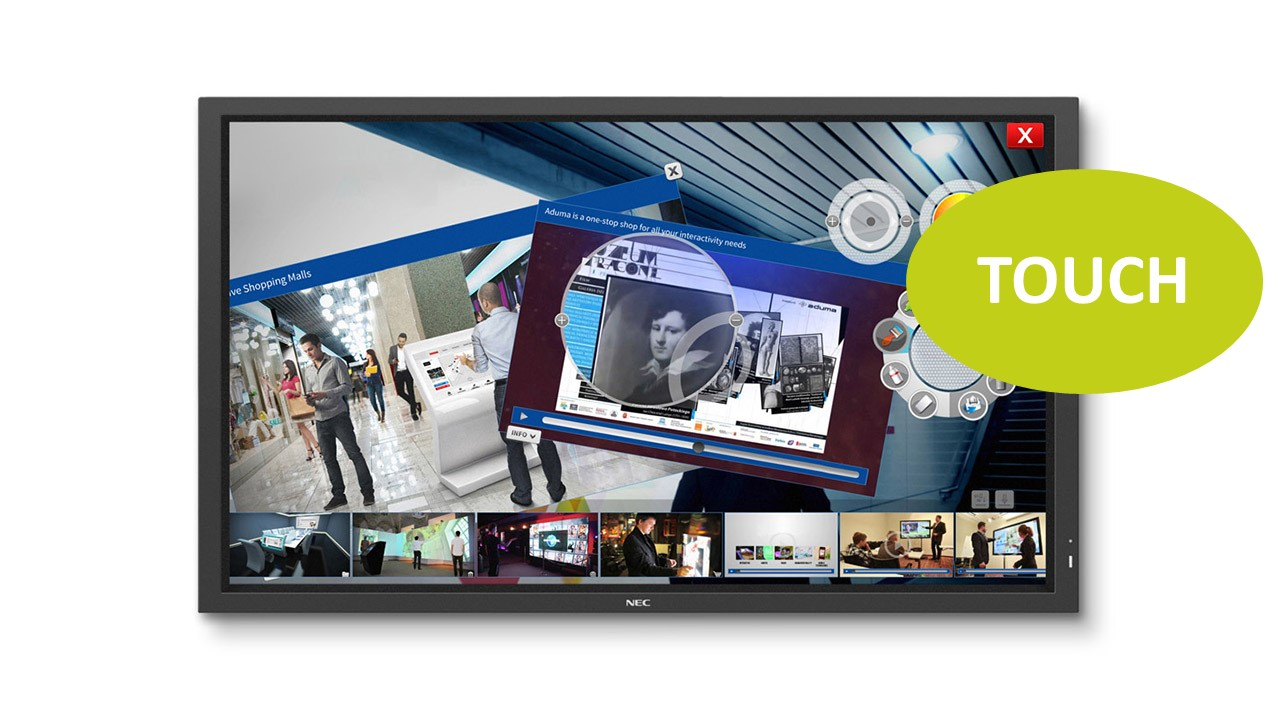 NEC MultiSync P801 SST 80'' LED-Display, Touch