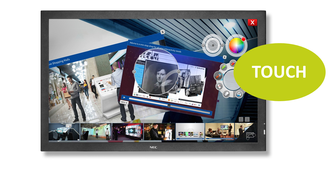 NEC MultiSync E705 SST 70'' LED-Display, Touch